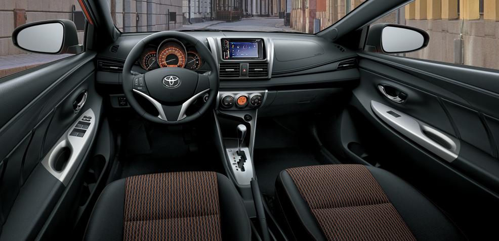 Hình ảnh bên trong dòng xe Toyota Yaris.