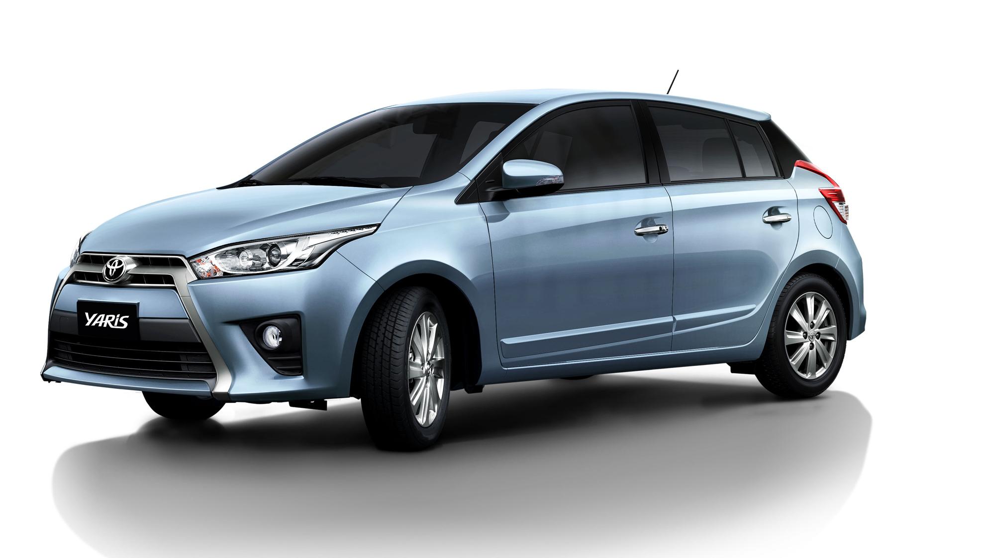 Toyota Yaris với thiết kế gọn nhỏ, tinh tế.